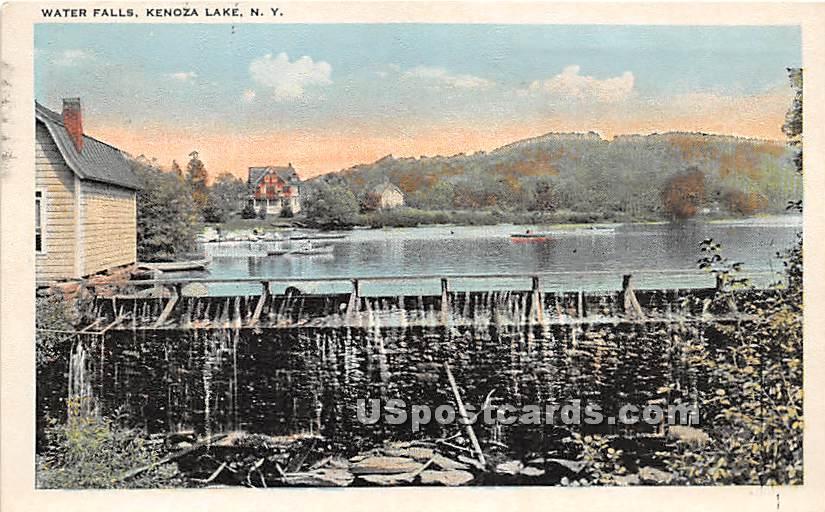 Water Falls - Kenoza Lake, New York NY Postcard
