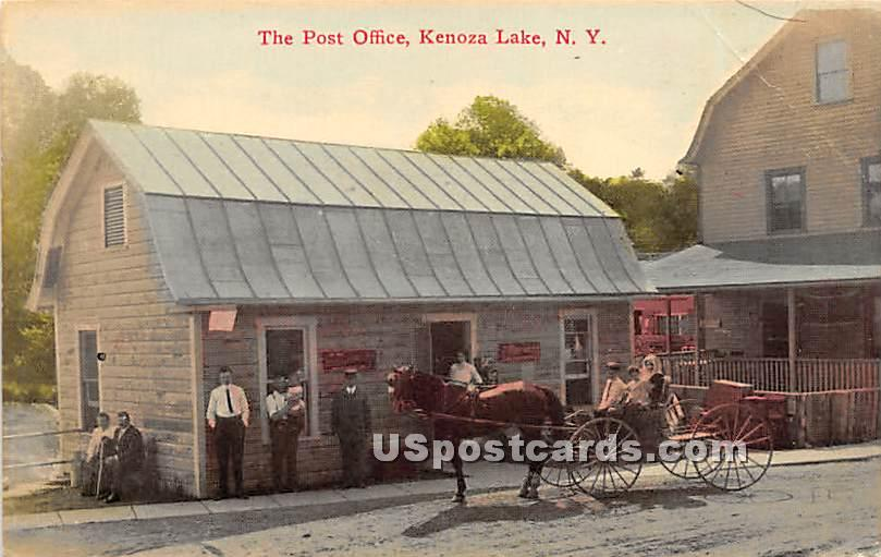 The Post Office - Kenoza Lake, New York NY Postcard