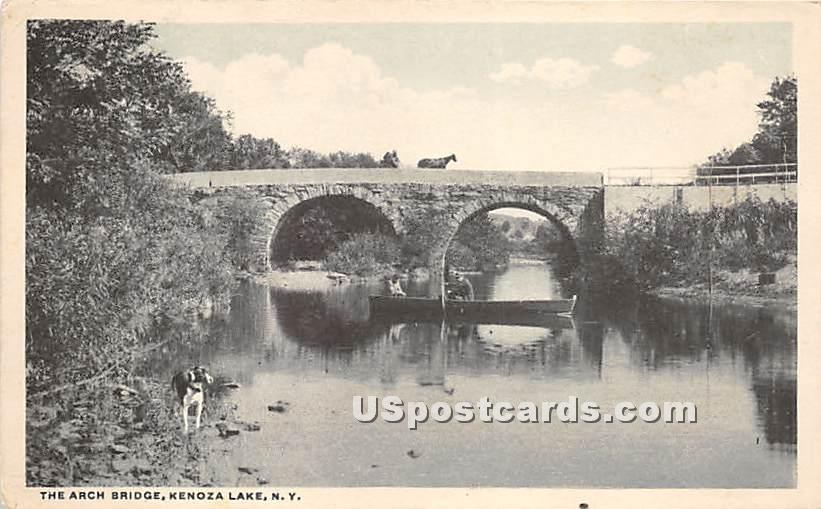 Arch Bridge - Kenoza Lake, New York NY Postcard