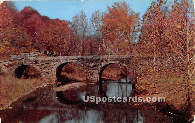 Historic Stone Arch Bridge - Kenoza Lake, New York NY Postcard