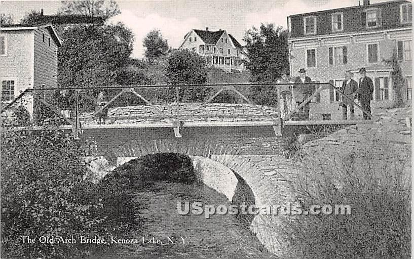The Old Arch Bridge - Kenoza Lake, New York NY Postcard