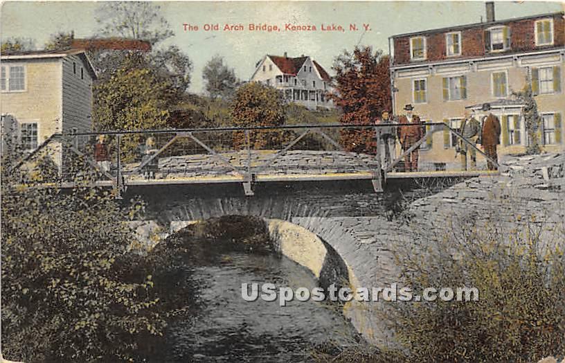 Old Arch Bridge - Kenoza Lake, New York NY Postcard