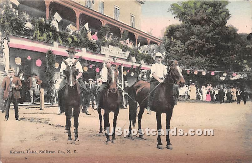Horse Riders - Kenoza Lake, New York NY Postcard