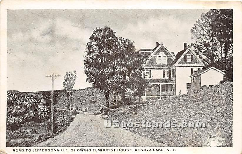 Road to Jeffersonville - Kenoza Lake, New York NY Postcard