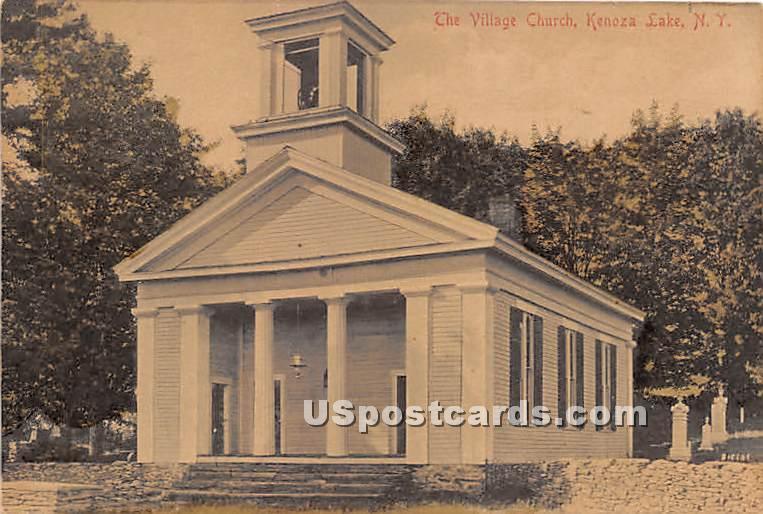 The Village Church - Kenoza Lake, New York NY Postcard