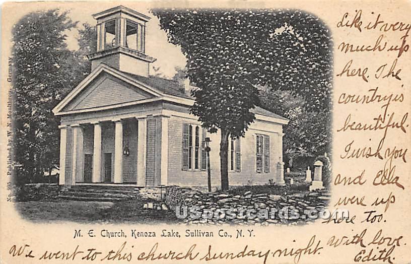 M E Church - Kenoza Lake, New York NY Postcard