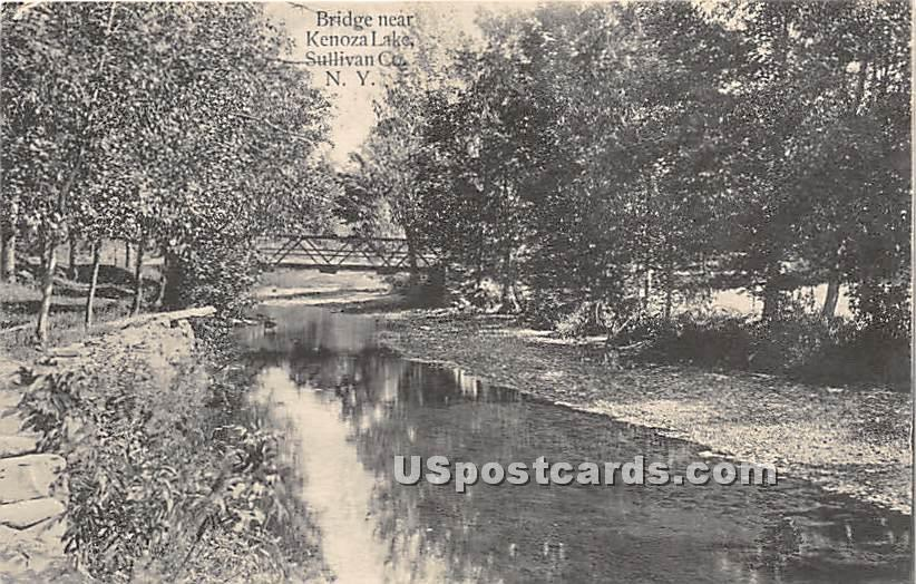 Bridge - Kenoza Lake, New York NY Postcard