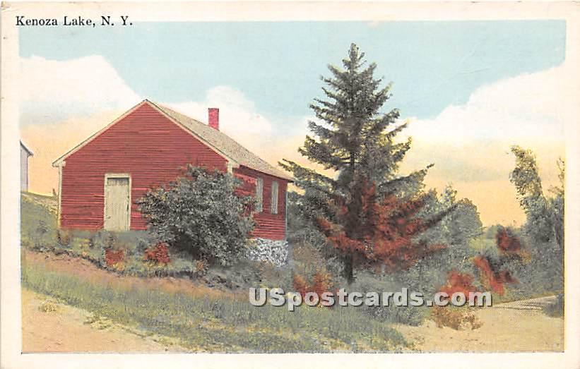 Red House - Kenoza Lake, New York NY Postcard