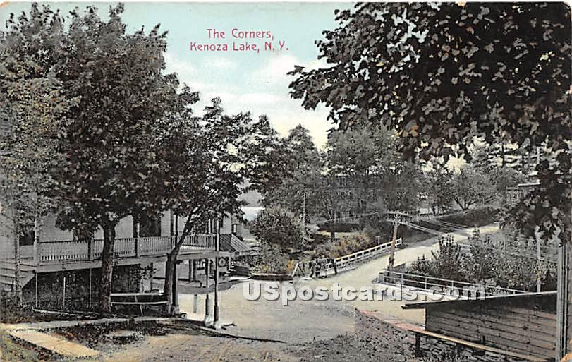 The Corners - Kenoza Lake, New York NY Postcard