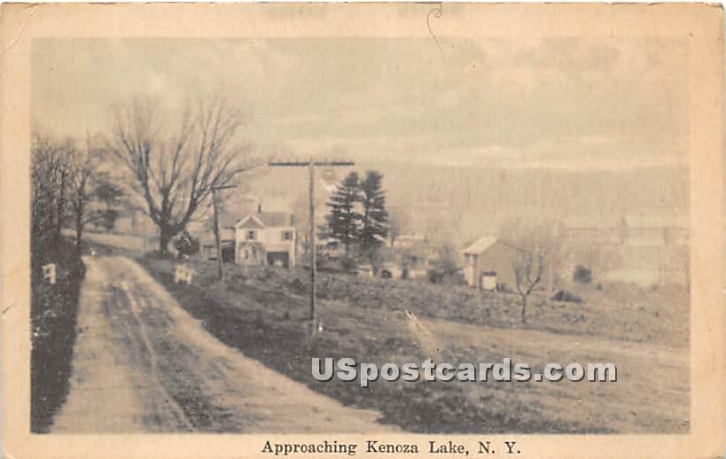 Approaching - Kenoza Lake, New York NY Postcard