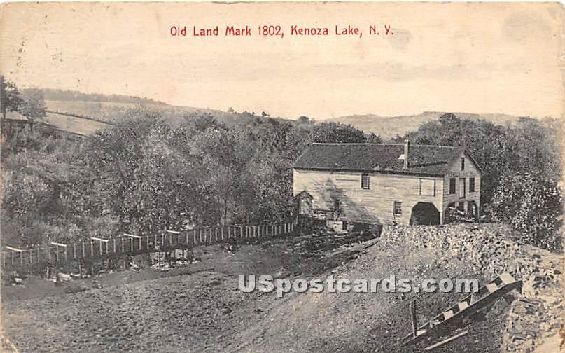 Old Land Mark 1802 - Kenoza Lake, New York NY Postcard