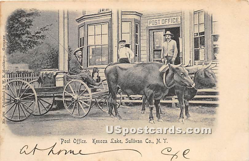 Post Office - Kenoza Lake, New York NY Postcard