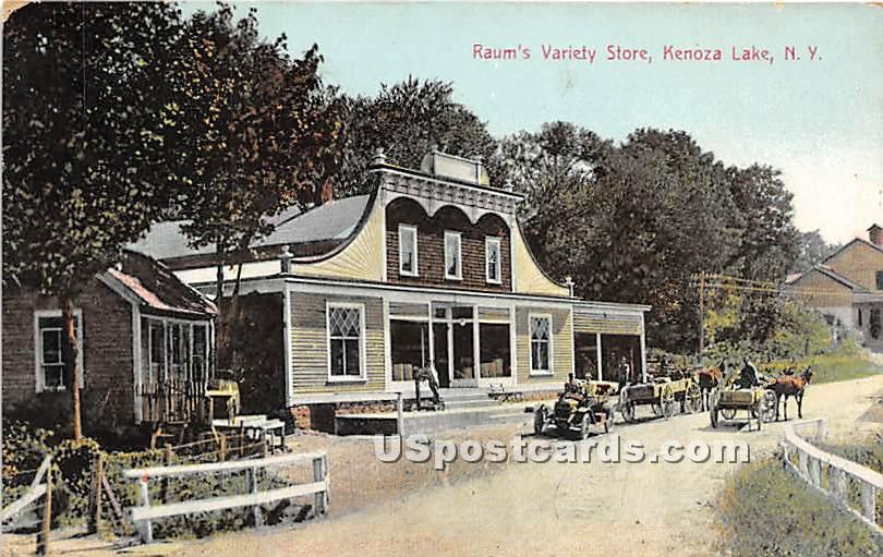 Raum's Variety Store - Kenoza Lake, New York NY Postcard