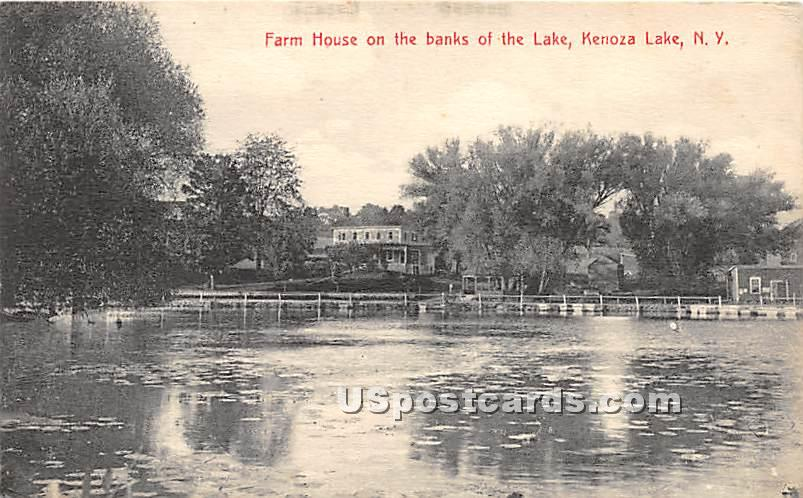 Farm House on the Banks of the Lake - Kenoza Lake, New York NY Postcard