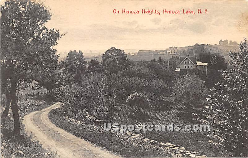 Kenoza Heights - Kenoza Lake, New York NY Postcard