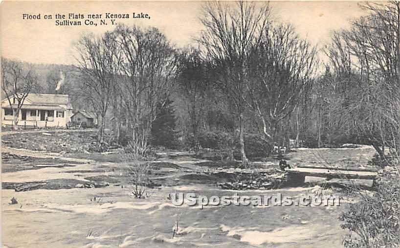 Flood on the Flats - Kenoza Lake, New York NY Postcard