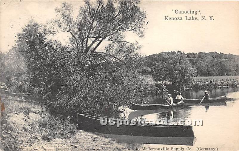 Canoeing - Kenoza Lake, New York NY Postcard