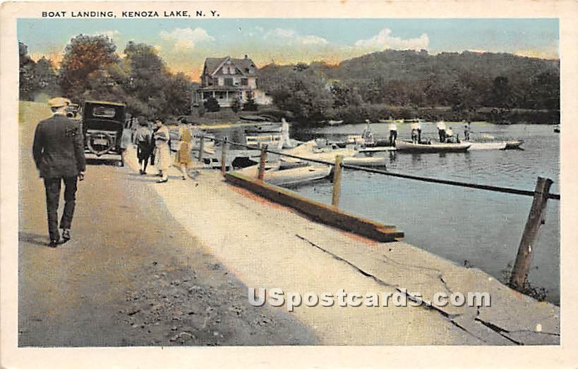 Boat Landing - Kenoza Lake, New York NY Postcard
