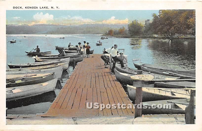 Dock - Kenoza Lake, New York NY Postcard