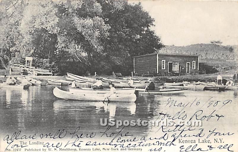 The Landing - Kenoza Lake, New York NY Postcard