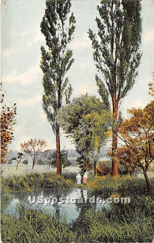Pond View - Kenoza Lake, New York NY Postcard