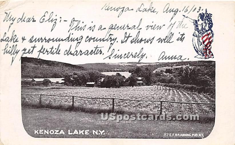 Farm View - Kenoza Lake, New York NY Postcard