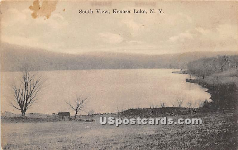 South View of Lake - Kenoza Lake, New York NY Postcard