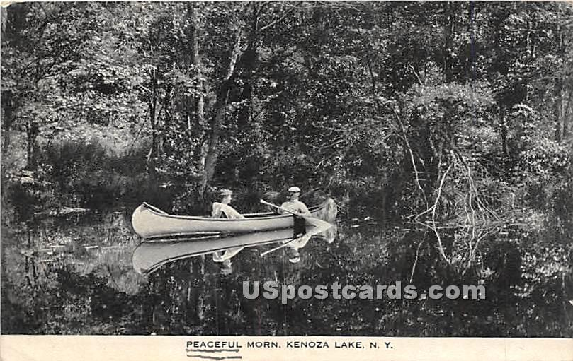 Peaceful Morn - Kenoza Lake, New York NY Postcard