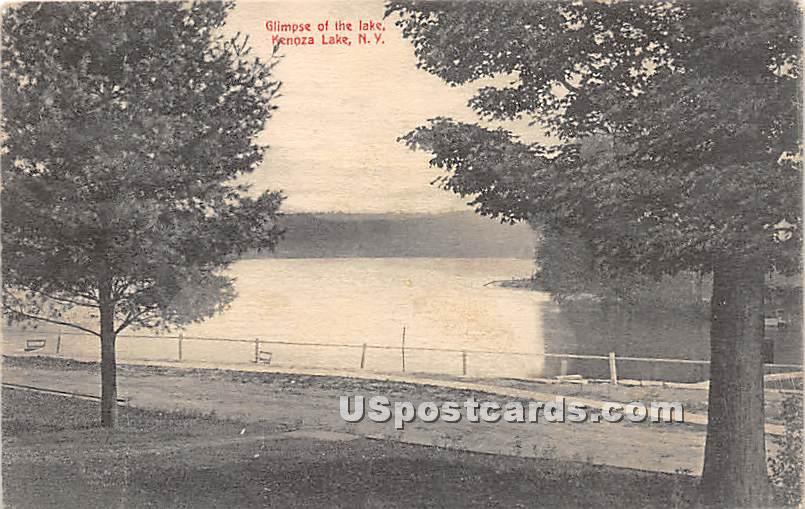 Glimps of Lake - Kenoza Lake, New York NY Postcard
