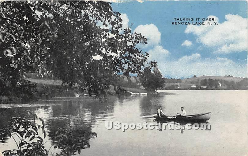Talking it Over - Kenoza Lake, New York NY Postcard
