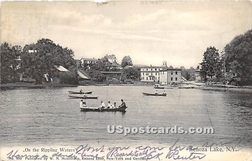 On the Rippling Waters - Kenoza Lake, New York NY Postcard