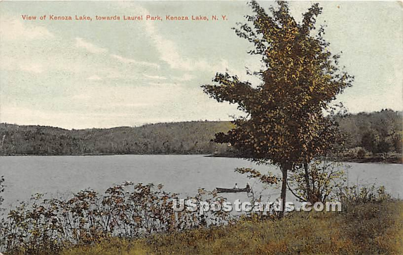 Looking towards Laurel Park - Kenoza Lake, New York NY Postcard