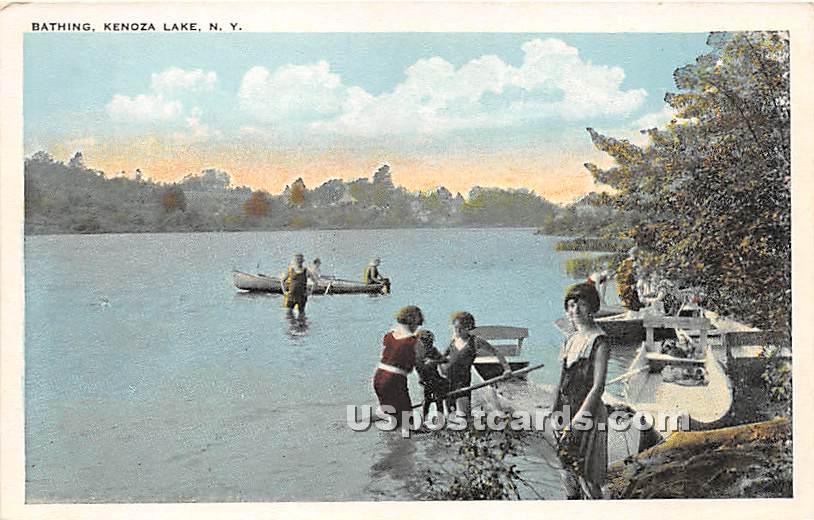 Bathing - Kenoza Lake, New York NY Postcard