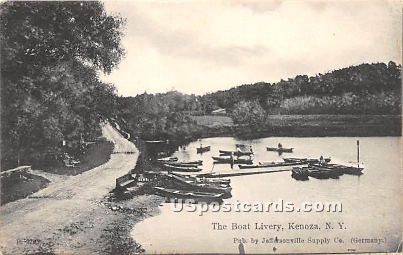 The Boat Livery - Kenoza Lake, New York NY Postcard