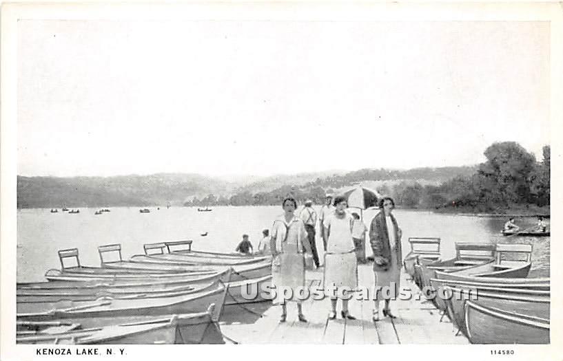 Dock View - Kenoza Lake, New York NY Postcard