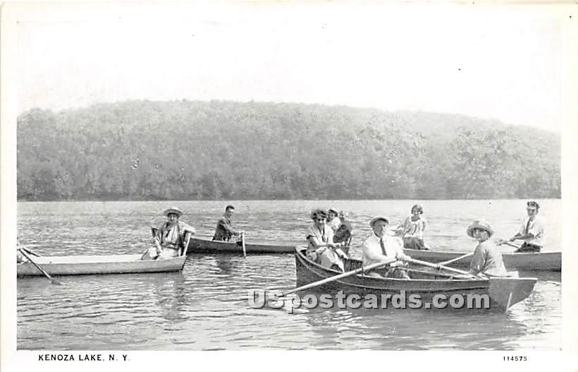 Boating - Kenoza Lake, New York NY Postcard