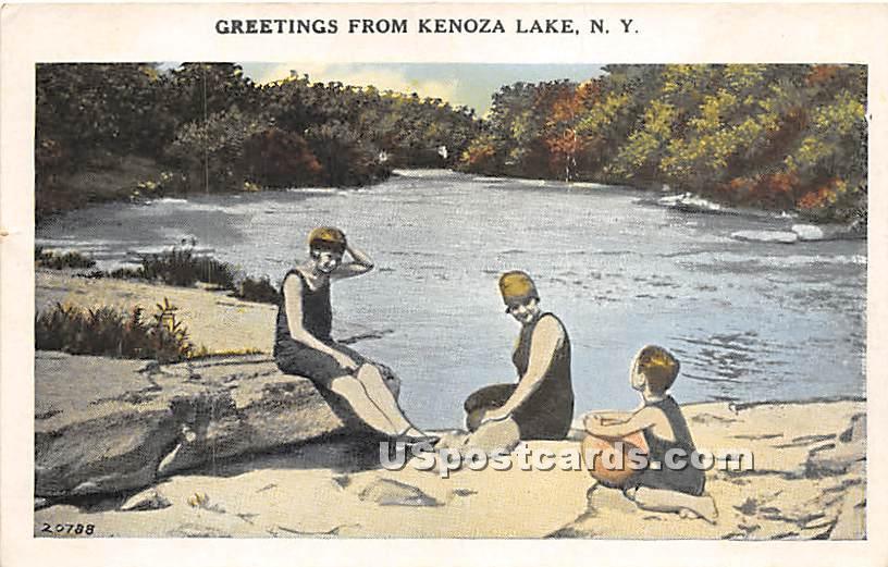 Greetings from - Kenoza Lake, New York NY Postcard