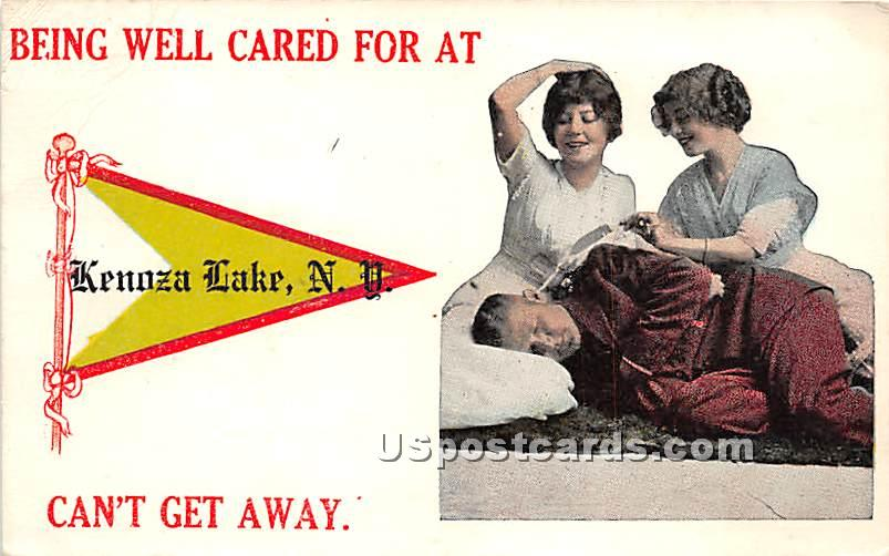 Being well cared for - Kenoza Lake, New York NY Postcard