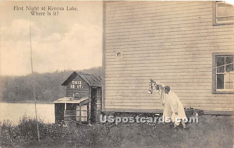 First Night - Kenoza Lake, New York NY Postcard