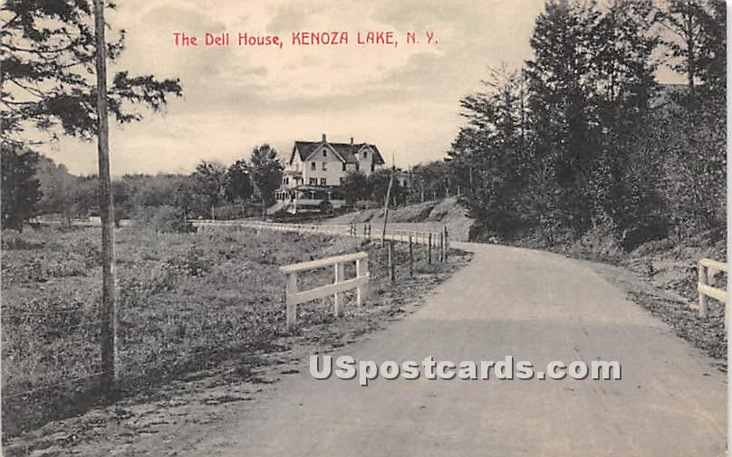 The Dell House - Kenoza Lake, New York NY Postcard