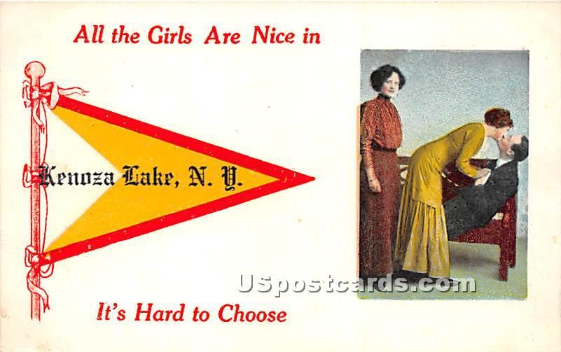 All the Girls are nice - Kenoza Lake, New York NY Postcard