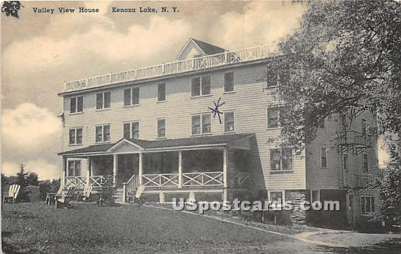 Valley View House - Kenoza Lake, New York NY Postcard
