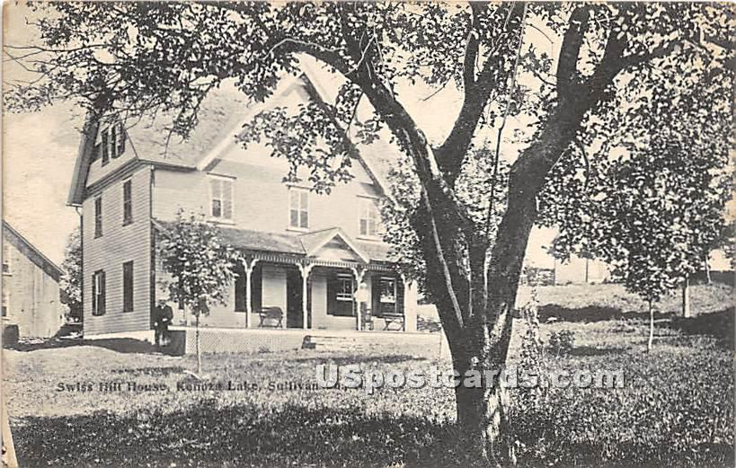 Swiss Hill House - Kenoza Lake, New York NY Postcard