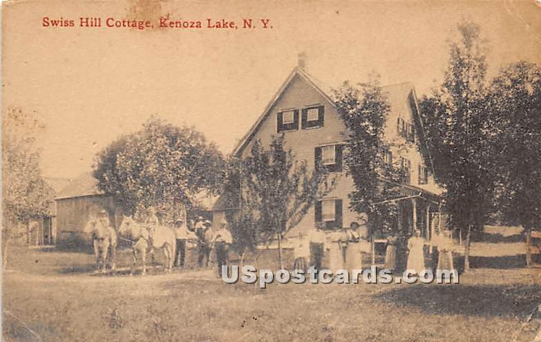 Swiss Hill Cottage - Kenoza Lake, New York NY Postcard