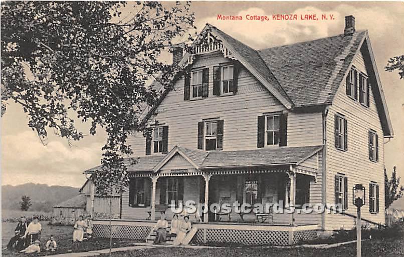 Motana Cottage - Kenoza Lake, New York NY Postcard