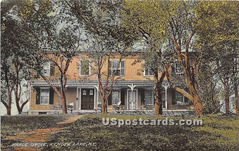 Maple Grove - Kenoza Lake, New York NY Postcard
