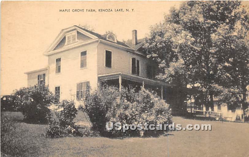Maple Grove Farm - Kenoza Lake, New York NY Postcard