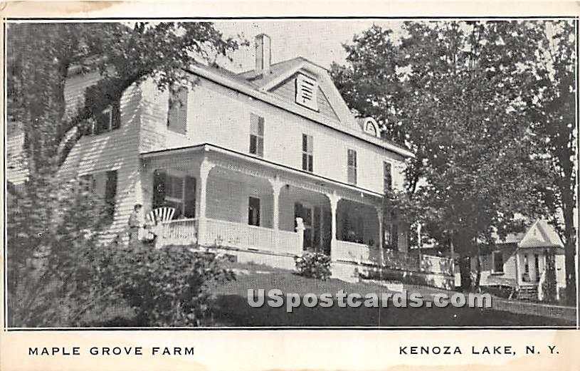 Maple Grove Farm - Kenoza Lake, New York NY Postcard