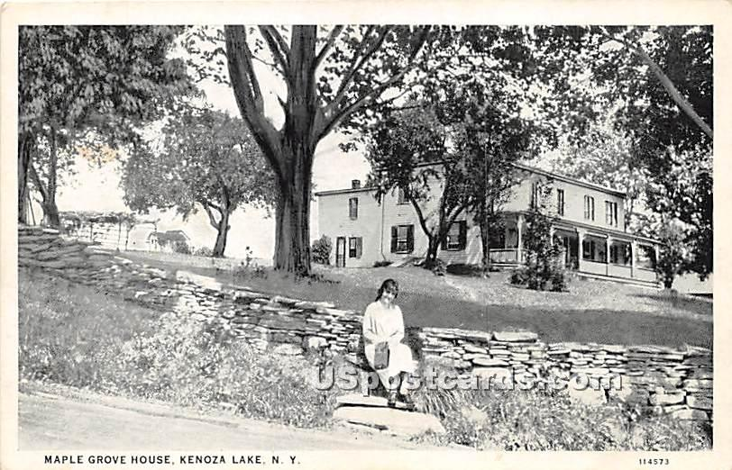 Maple Grove House - Kenoza Lake, New York NY Postcard