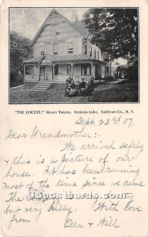 The Locust Henry Theiss - Kenoza Lake, New York NY Postcard